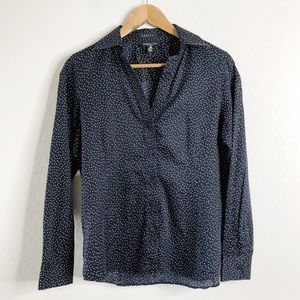FOXCROFT Fitted Fit Polka Dot Button Down Shirt 8